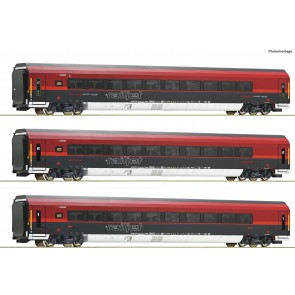 Roco 74086 - 3-tlg Set Railjet DC