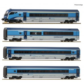 Roco 74142 - 4er Set Railjet CD DC