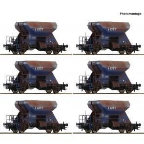 Roco 75959 - Display: Gealterte Schotterwagen, Railpro