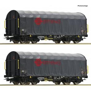Roco 76039 - 2er Set Schiebeplanwag.
