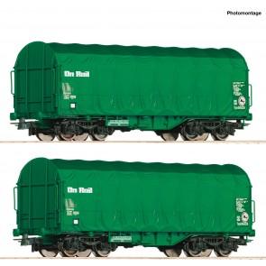 Roco 76049 - 2er Set Schiebeplanwag.