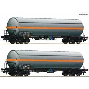 Roco 76073 - 2er Set Druckgaskesselwag.