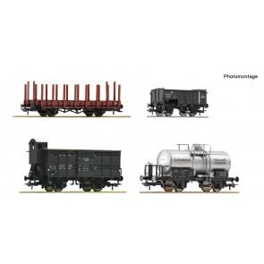Roco 76077 - 4er Set Güterwag. SS
