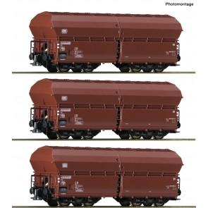 Roco 76079 - 3er Set Klappdeckelw. DB