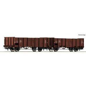 Roco 76125 - 2-tlg. Set: Offene Güterwagen, DSB