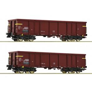Roco 76127 - 2-tlg. Set: Offene Güterwagen, FS