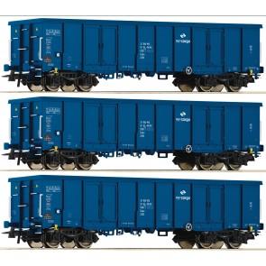 Roco 76128 - 3-tlg. Set: Offene Güterwagen, PKP Cargo