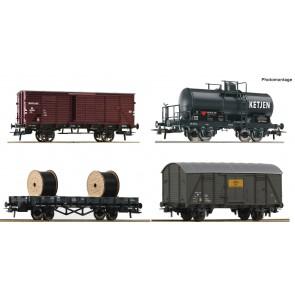 Roco 76134 - 4-tlg. Set: Güterwagen, NS