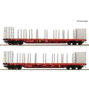 Roco 76142 - 2-tlg. Set: Rungenwagen, RCW