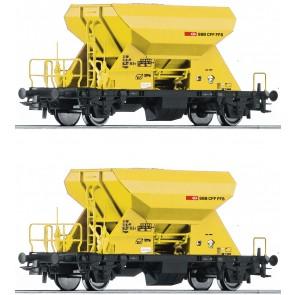 Roco 76154 - 2-tlg. Set: Schotterwagen, SBB