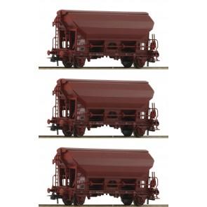 Roco 76176 - 3-tlg. Set: Schwenkdachwagen, SNCB