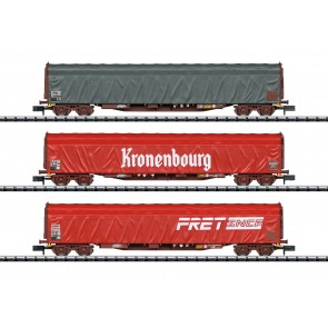 Trix 15115 - Schiebeplanwagen-Set Rils SNC