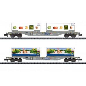 Trix 15488 - Containertragwagen-Set Kühltr