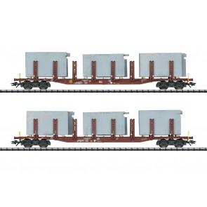 Trix 24141 - Rungenwagen-Set Badsysteme DB