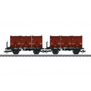 Trix 24177 - Kohlekübeltragwagen DB