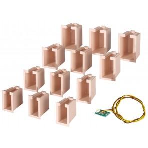 Viessmann 6005 - Hausbel.-Startset, 12 Boxen