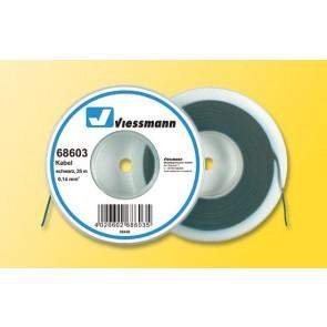 Viessmann 68603 - 25 m Kabel, 0,14 mm²,schw.