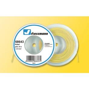 Viessmann 68643 - Kabel 25 m, 0,14 mm², gelb