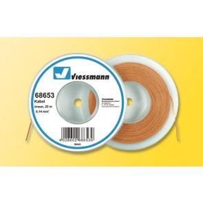 Viessmann 68653 - Kabel 25 m, 0,14 mm², braun