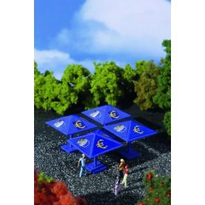 Vollmer 42003 - H0 Euro-Sonnenschirm, 4 Stück