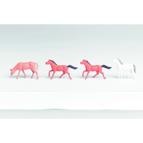 Vollmer 42289 - N Figuren-Set Pferde, 4 Stück