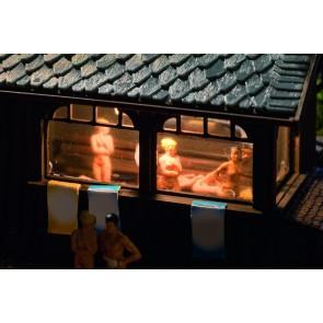 Vollmer 45146 - H0 Sauna mit Zubehör und Bele