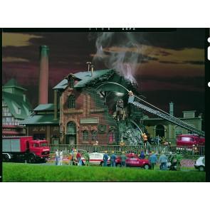 Vollmer 45601 - H0 Brennende Fabrik mit Flack