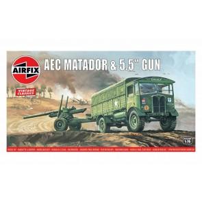 Airfix 01314V - AEC MATADOR & 5.5INCH GUN 1:76