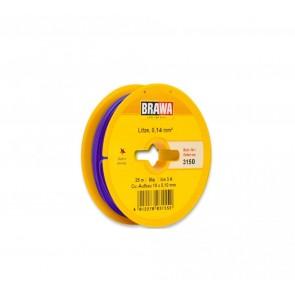 Brawa 3150 - Schaltlitze 0,14 mm², 25 m Spule, lila