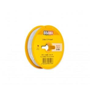 Brawa 3159 - Schaltlitze 0,14 mm², 25 m Spule, weiß
