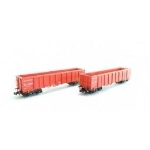 Hobbytrain H23418 - 2 goederenwagens Eanos NS Cargo