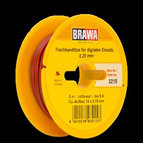 Brawa 3215 - Doppellitze 0,25 mm², 5 m Spule, br/rt