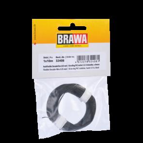 Brawa 32408 - Decoderlitze 0,05 mm², 10 m Ring, schwarz