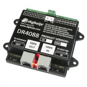 Digikeijs DR4088CS - 16-kanaals s88N terugmeldmodule met geintergreerde stroomdetectie ingangen