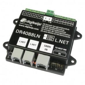 Digikeijs DR4088LN 2R - 16-kanaals s88N LOCONET compatible met geintergreerde stroomdetectie ingangen 2 RAIL
