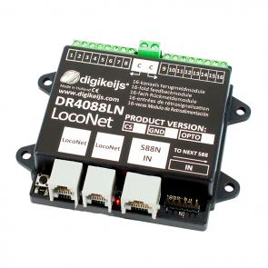 Digikeijs DR4088LN CS - 16-kanaals s88N LOCONET compatible met geintergreerde stroomdetectie ingangen (2 RAIL)