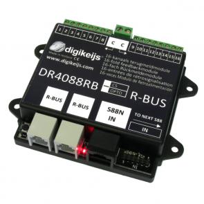 Digikeijs DR4088RB CS - 16-kanaals R-BUS terugmeldmodule met geintergreerde stroomdetectie ingangen
