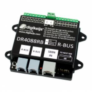 Digikeijs DR4088RB OPTO - 16-kanaals R-BUS terugmeldmodule met geintergreerde optische ingangen
