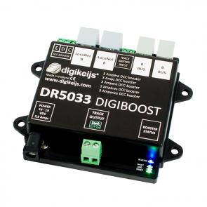 Digikeijs DR5033 ADJ - DCC Booster 3 Ampère incl. Regelbare voeding ( 15-24Volt )