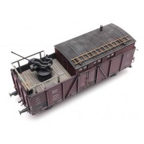 Artitec 487.801.65 - Lading: 20 mm Flak-stelling open goederenwagen  ready 1:87