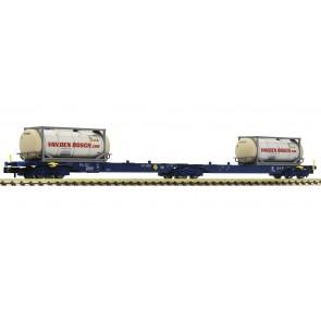 Fleischmann 825338 - Dubbele draagwagen met containers, NL