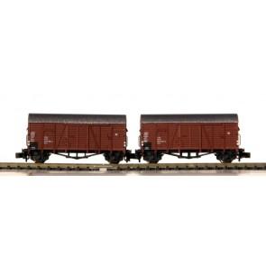 Hobbytrain H24903 - 2-delige goederenwagenset DB OP=OP!