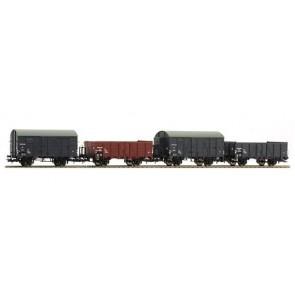 Liliput L230106 - 4-delige goederenwagenset NS OP=OP!