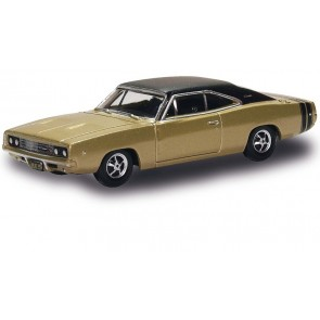 Oxford 129443 - DODGE CHARGER, GOLD/SCHWARZ 87DC68002