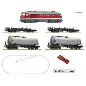 Roco 51327 - Z21 start Digitalset: Diesellokomotive BR 142 mit Güterzug, DR