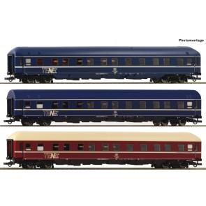 Roco 74129 - 3er Set Schlafwagen DB