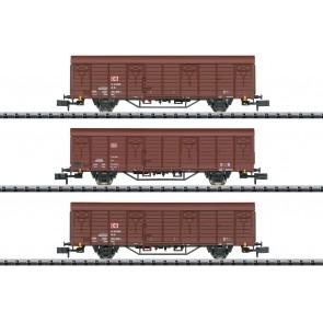 Trix 18901- 3-delige goederenwagenset type Gbs 258, DB AG
