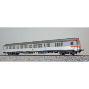 Esu 36486 - n-Wagen, H0, BDnrzf 740.2, 82-34 322-1, Steuerwagen, DB Ep. IV, silber, Pfauenauge, Rahmen ozeanblau, Dach umbragrau, DC