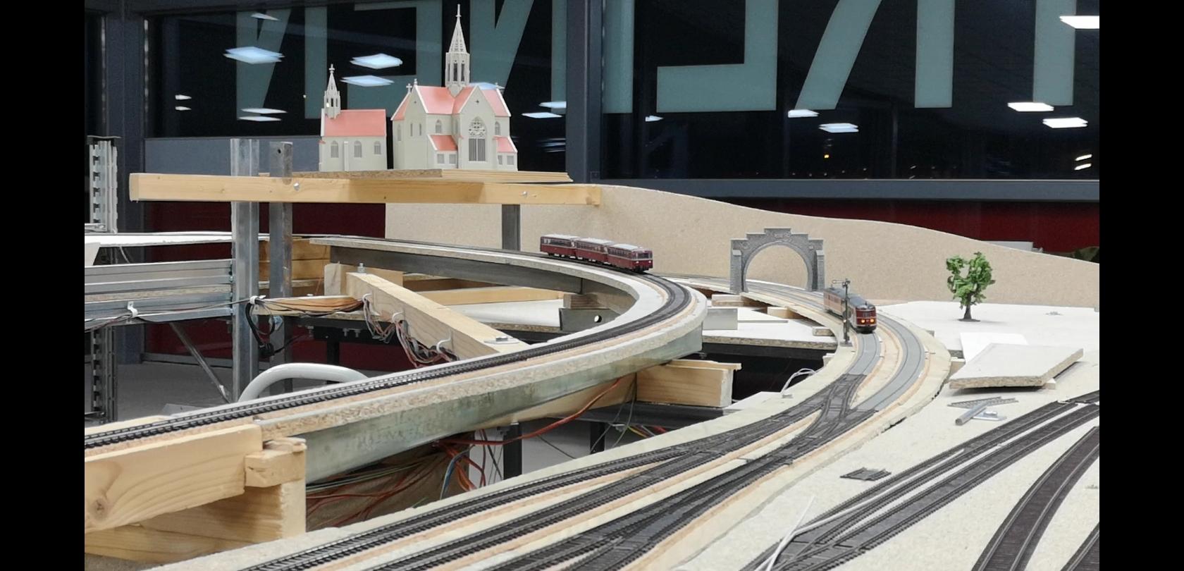 Aanleg spoorlijn naar Winterberg