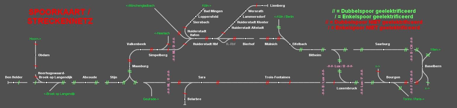 Spoorkaart Huiderstad en uitbreidingen